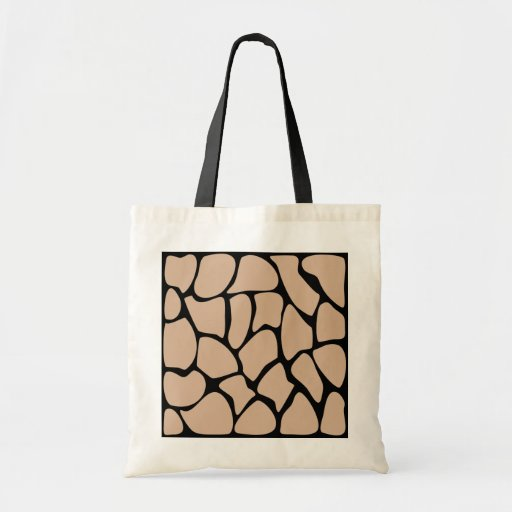 Giraffe Print Pattern in Beige. Canvas Bag