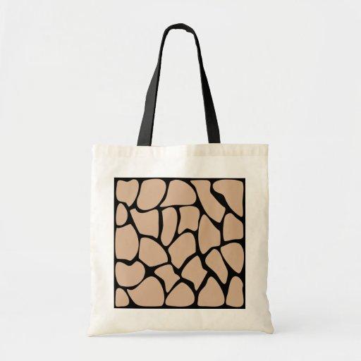 Giraffe Print Pattern in Beige. Budget Tote Bag