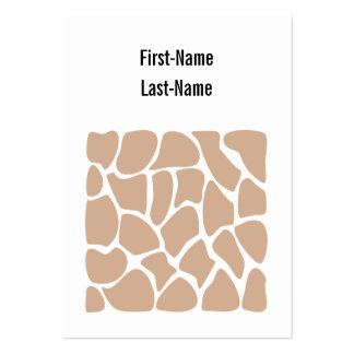 Giraffe Print Pattern in Beige. Large Business Cards (Pack Of 100)