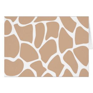 Giraffe Print Pattern in Beige. Card