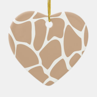 Giraffe Print Pattern in Beige. Christmas Ornament