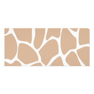 Giraffe Print Pattern in Beige Full Color Rack Card