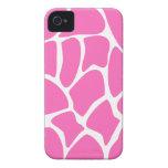 Giraffe Print Pattern in Bright Pink. Case-Mate iPhone 4 Cases