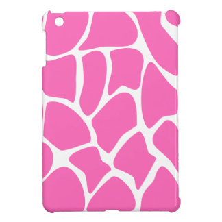 Giraffe Print Pattern in Bright Pink. Case For The iPad Mini