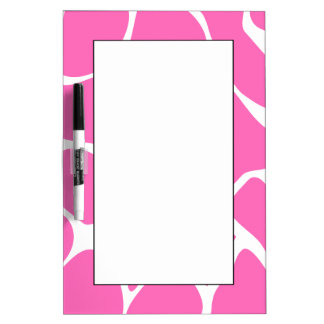 Giraffe Print Pattern in Bright Pink. Dry Erase Board