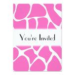 Giraffe Print Pattern in Bright Pink. Invites