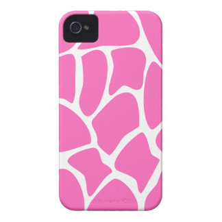Giraffe Print Pattern in Bright Pink. iPhone 4 Cover