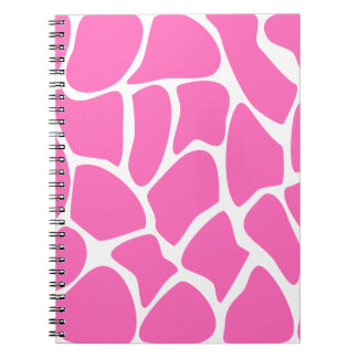 Giraffe Print Pattern in Bright Pink. Notebook