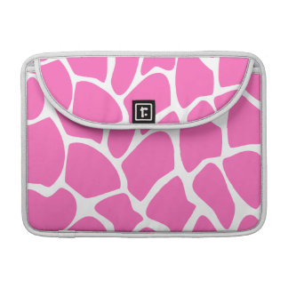 Giraffe Print Pattern in Bright Pink. Sleeve For MacBook Pro