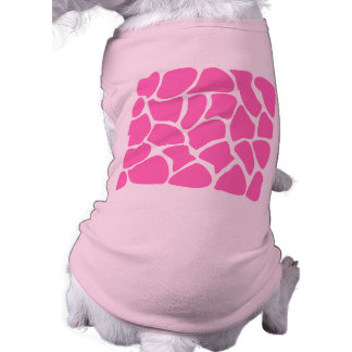Giraffe Print Pattern in Bright Pink. Sleeveless Dog Shirt