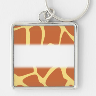 Giraffe Print Pattern in Brown and Yellow Keychains