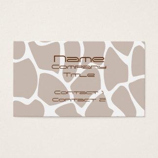Giraffe Print Pattern in Brown. Business Card