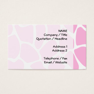 Giraffe Print Pattern in Candy Pink. Business Card