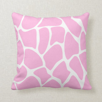 Giraffe Print Pattern in Candy Pink. Cushion