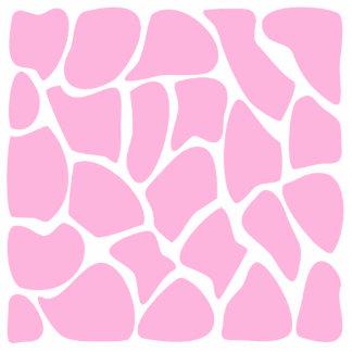 Giraffe Print Pattern in Candy Pink. Photo Sculpture Badge