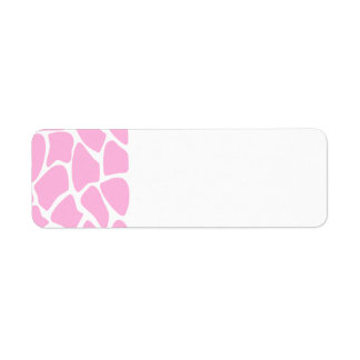 Giraffe Print Pattern in Candy Pink. Return Address Label