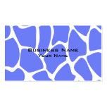 Giraffe Print Pattern in Cornflower Blue.