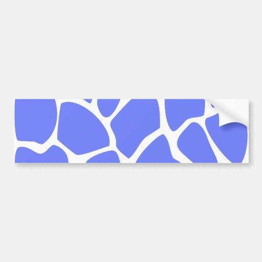 Giraffe Print Pattern in Cornflower Blue. Bumper Stickers