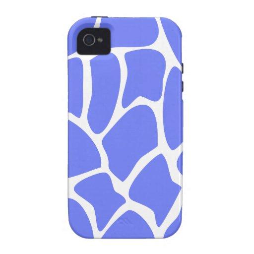 Giraffe Print Pattern in Cornflower Blue. iPhone 4 Case