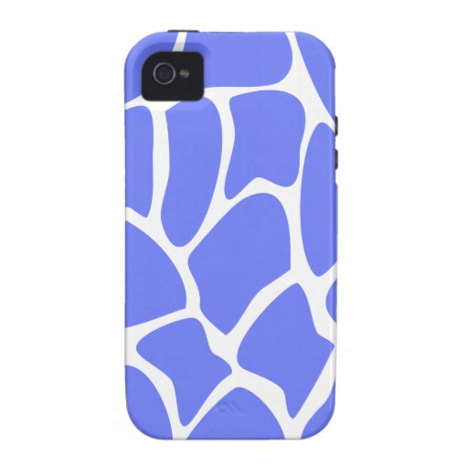 Giraffe Print Pattern in Cornflower Blue. iPhone 4 Case