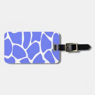 Giraffe Print Pattern in Cornflower Blue. Luggage Tag