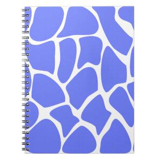 Giraffe Print Pattern in Cornflower Blue. Notebooks
