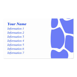 Giraffe Print Pattern in Cornflower Blue. Pack Of Standard Business Cards
