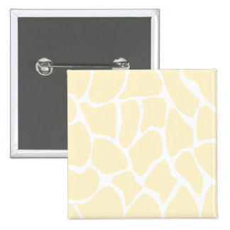 Giraffe Print Pattern in Cream Color. 15 Cm Square Badge