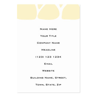 Giraffe Print Pattern in Cream Color. Pack Of Chubby Business Cards