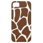 Giraffe Print Pattern in Dark Brown.