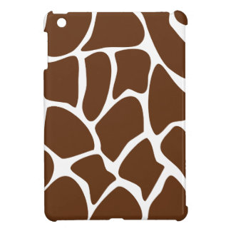 Giraffe Print Pattern in Dark Brown. iPad Mini Cover