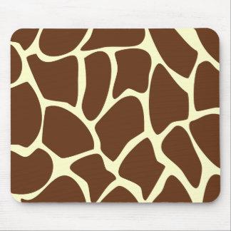 Giraffe Print Pattern in Dark Brown. Mouse Mat