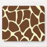 Giraffe Print Pattern in Dark Brown. Mouse Pad