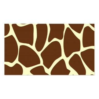 Giraffe Print Pattern in Dark Brown. Pack Of Standard Business Cards