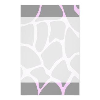 Giraffe Print Pattern in Gray. 14 Cm X 21.5 Cm Flyer