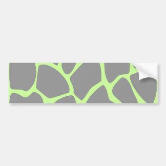 Giraffe Print Pattern in Gray. Bumper Sticker