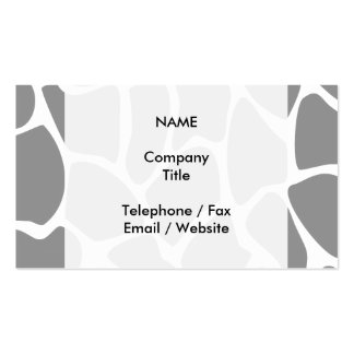 Giraffe Print Pattern in Gray Business Card Template