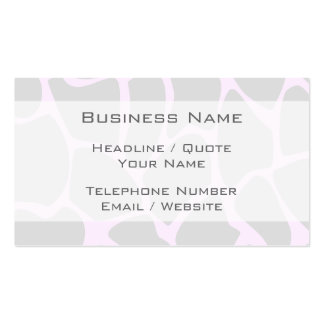 Giraffe Print Pattern in Gray Business Card Templates