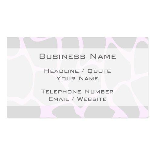 Giraffe Print Pattern in Gray. Business Card Templates