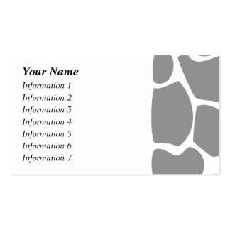 Giraffe Print Pattern in Gray. Business Card Template