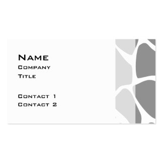 Giraffe Print Pattern in Gray. Business Card Templates