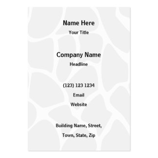 Giraffe Print Pattern in Gray. Large Business Cards (Pack Of 100)