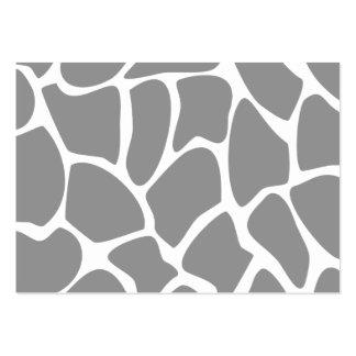 Giraffe Print Pattern in Gray. Business Card
