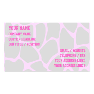 Giraffe Print Pattern in Gray. Pack Of Standard Business Cards