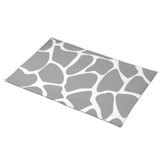 Giraffe Print Pattern in Gray. Placemat