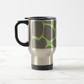 Giraffe Print Pattern in Gray. Travel Mug