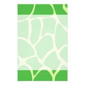 Giraffe Print Pattern in Jungle Green. 14 Cm X 21.5 Cm Flyer