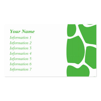 Giraffe Print Pattern in Jungle Green. Pack Of Standard Business Cards