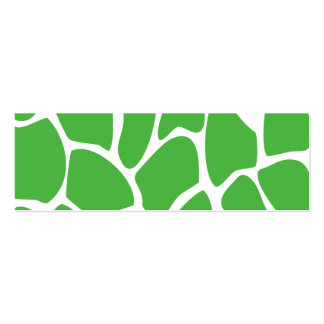 Giraffe Print Pattern in Jungle Green. Pack Of Skinny Business Cards