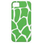 Giraffe Print Pattern in Jungle Green. iPhone 5 Case